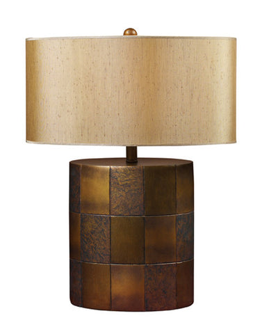 Dimond D1502 Herndon Table Lamp In Portico With Oval Taupe Faux Silk Shade - PeazzLighting