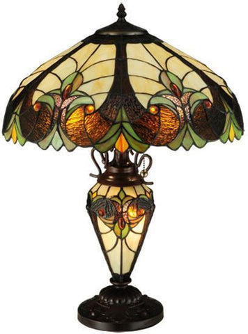 "Meyda Tiffany 134528 25""H Sebastian Table Lamp - PeazzLighting"