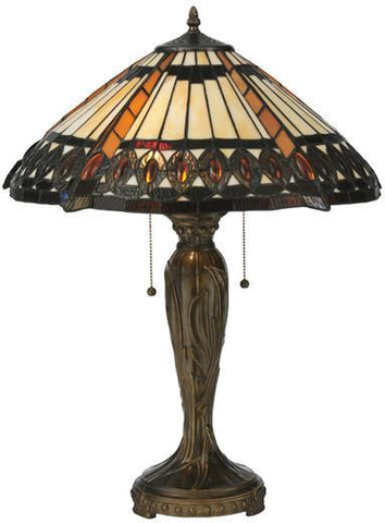 "Meyda Tiffany 119679 25""H Cleopatra Table Lamp - PeazzLighting"