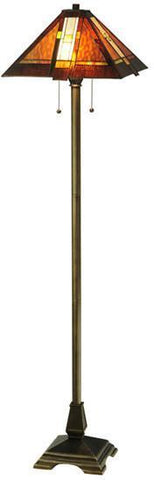 "Meyda Tiffany 118710 61""H Montana Mission Floor Lamp - PeazzLighting"