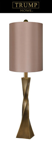 Dimond D1726 Union Square Table Lamp In Antique Brass With Taupe Shade, Solid Brass Construction - PeazzLighting