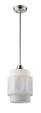 Landmark 66290-1 Schoolhouse One Light Pendant in Satin Nickel - PeazzLighting
