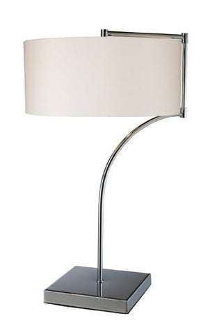 Dimond D1833 Lancaster Table Lamp In Chrome With Milano Pure White Shade - PeazzLighting