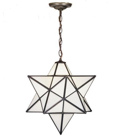 Meyda Tiffany 15154 Moravian Star White Pendant - PeazzLighting