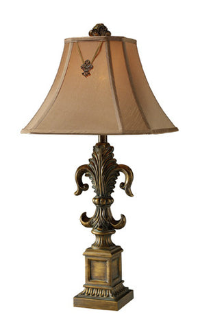 Dimond D1841 Bainbridge Table Lamp In Mccoubrey Bronze With Taupe Faux Silk Shade And Cream Liner - PeazzLighting