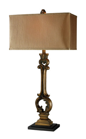Dimond D1844 Dresden Table Lamp In Anatol Gold With Meadavale Taupe And Cream Liner - PeazzLighting