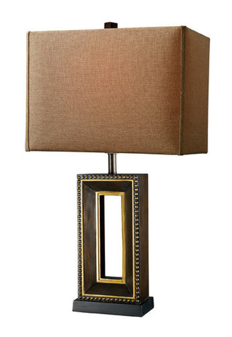 Dimond D1845 Winston Table Lamp In Tanager Finish With Woodlawn Toast Shade And Taupe Liner - PeazzLighting