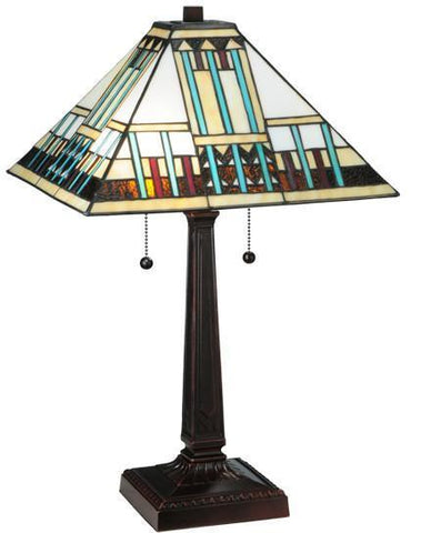 "Meyda Tiffany 138119 23""H Prairie Peaks Table Lamp - PeazzLighting"