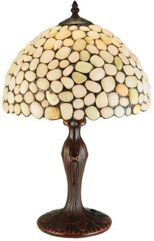 "Meyda Tiffany 138124 19""H Jasper Opal Table Lamp - PeazzLighting"