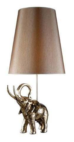 Dimond D1910 Austel Table Lamp In Gold Leaf With Taupe Shade - PeazzLighting