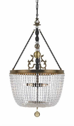 Crystorama 257-FA Kendall 6 Light Glass Beads Chandelier - PeazzLighting