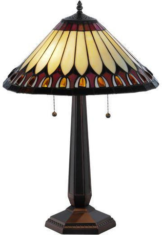 "Meyda Tiffany 138579 24.5""H Tuscaloosa Table Lamp - PeazzLighting"