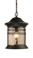Landmark 08160-MBG Madison One Light Outdoor Pendant in Matte Black - PeazzLighting