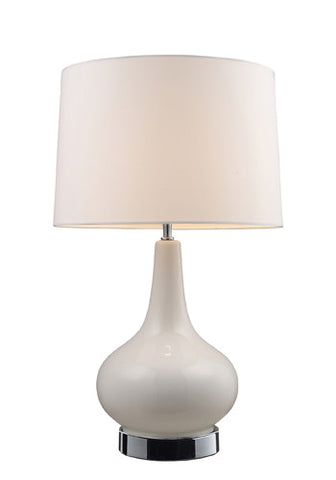 Dimond 3935/1  Continuum Table Lamp In White And Chrome With White Shade - PeazzLighting