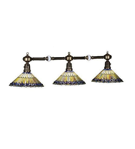Meyda Tiffany 28501 Tiffany Jeweled Peacock Three Light Island Pendant - PeazzLighting