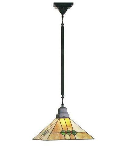"Meyda Tiffany 49114 13""Sq Martini Mission Pendant - PeazzLighting"