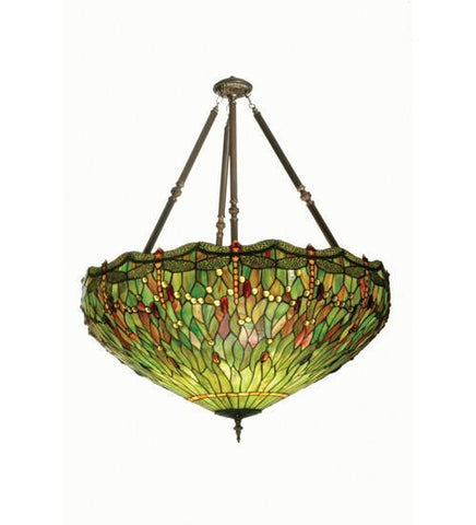 Meyda Tiffany 30283 Tiffany Hanginghead Dragonfly Inverted Pendant - PeazzLighting