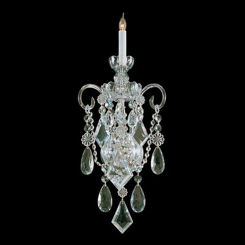 Crystorama 1041-PB-CL-MWP 1-Lights Clear Hand Cut Crystal Wall Sconce - Polished Brass - PeazzLighting