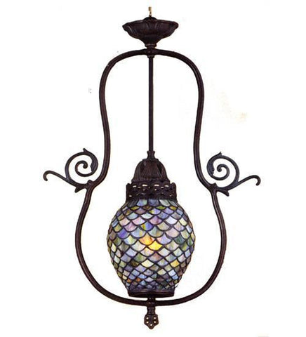 Meyda Tiffany 30384 Tiffany Fishscale Pendant - PeazzLighting