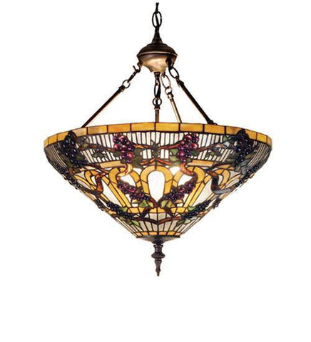 Meyda Tiffany 65651 Jeweled Grape Inverted Pendant  - PeazzLighting