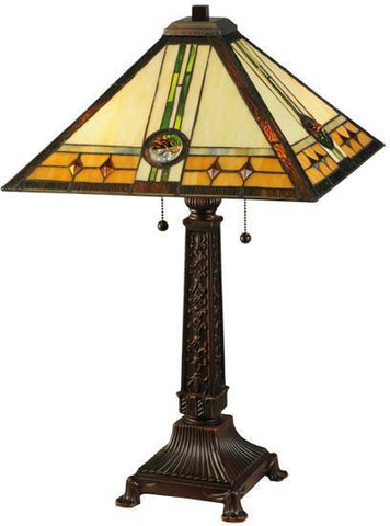 "Meyda Tiffany 138771 26.5""H Carlsbad Mission Table Lamp - PeazzLighting"