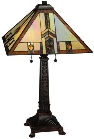 "Meyda Tiffany 138773 26""H Prairie Wheat Harvest Table Lamp - PeazzLighting"