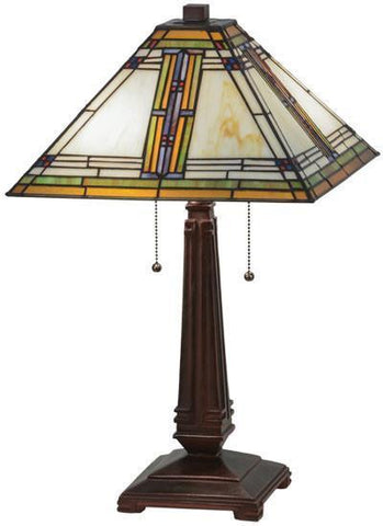 "Meyda Tiffany 143149 23""H Nevada Table Lamp - PeazzLighting"