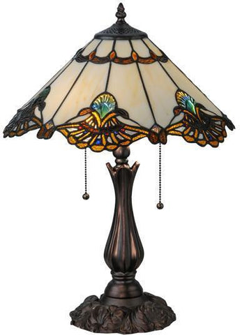 "Meyda Tiffany 144058 21""H Shell With Jewels Table Lamp - PeazzLighting"