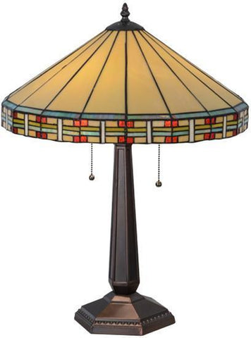 "Meyda Tiffany 144960 24""H Arizona Table Lamp - PeazzLighting"