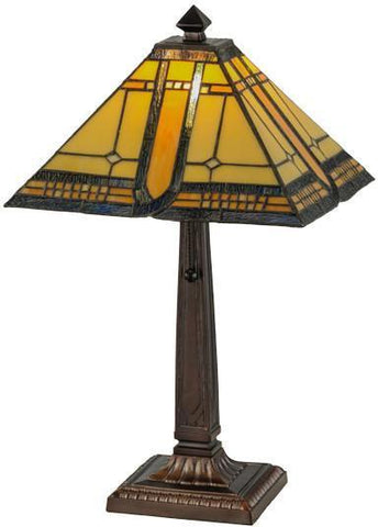 "Meyda Tiffany 147482 21""H Sierra Prairie Mission Table Lamp - PeazzLighting"