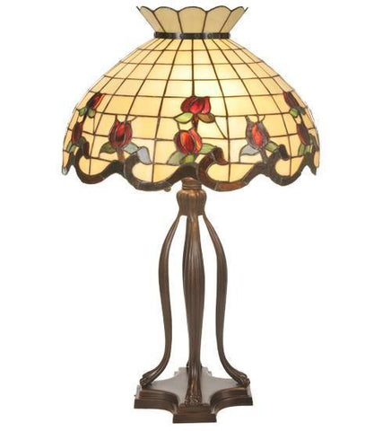 Meyda Tiffany 19138 Roseborder Table Lamp - PeazzLighting