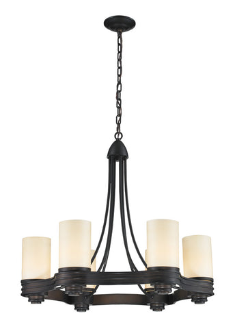 Landmark 61067-6 Waverly Aged Bronze Chandelier - PeazzLighting