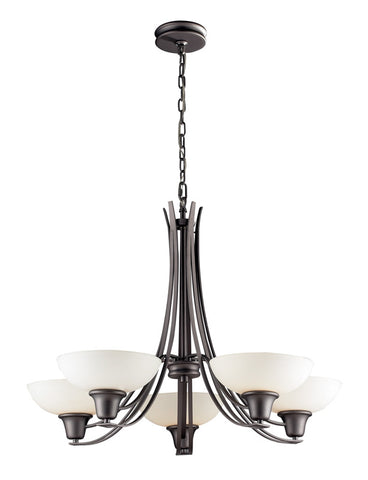 Landmark 61055-5 Franklin creek Graphite Chandelier - PeazzLighting