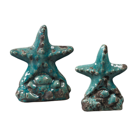 Sterling Industries 119-043/S2 Set Of 2 Ceramic Star Fish - PeazzLighting
