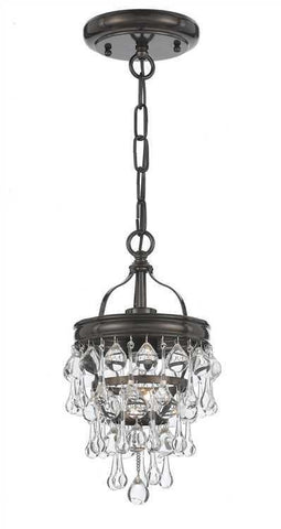 Crystorama 131-VZ Calypso 1 Light Bronze Pendant - PeazzLighting