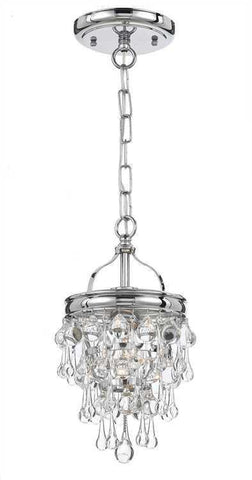 Crystorama 131-CH Calypso 1 Light Chrome Pendant - PeazzLighting
