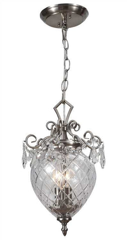 Crystorama 265-CH-CL-MWP Avery 2 Light Chrome Pendant - PeazzLighting