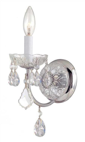 Crystorama 3221-CH-CL-S Imperial 1 Light Elements Crystal Chrome Sconce - PeazzLighting