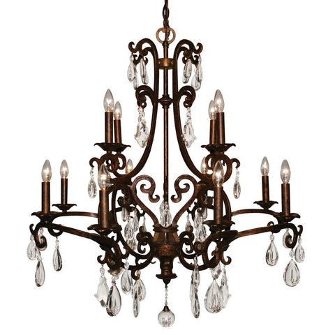 Z-Lite Santa Maria Collection Mayan Gold Finish 12 Light Chandelier - ZLiteStore