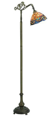 "Meyda Tiffany 120578 63""H Saturday Morning Bridge Arm Floor Lamp - PeazzLighting"