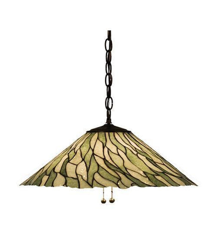 "Meyda Tiffany 19196 20""W Jadestone Willow Pendant - PeazzLighting"