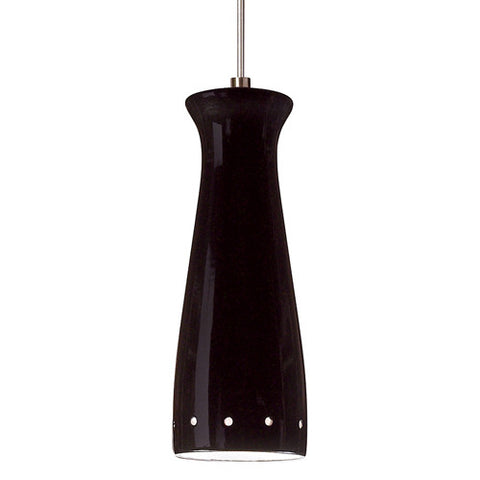 A19 LVMP07-BG Pilsner Mini Pendant Black Gloss - PeazzLighting