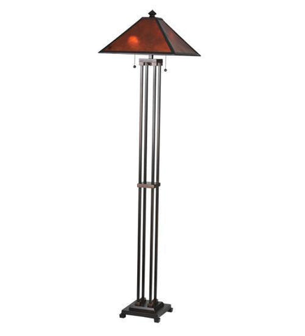 Meyda Tiffany 24218 Van Erp Amber Mica Floor Lamp - PeazzLighting