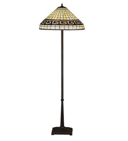 Meyda Tiffany 29503 Greek Key Floor Lamp - PeazzLighting