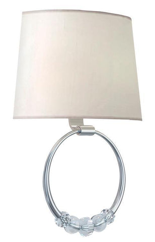 Crystorama 8001-PN Mirage 2 Light Polished Nickel Sconce - PeazzLighting