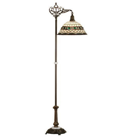 Meyda Tiffany 65839 Tiffany Roman Bridge Arm Floor Lamp - PeazzLighting