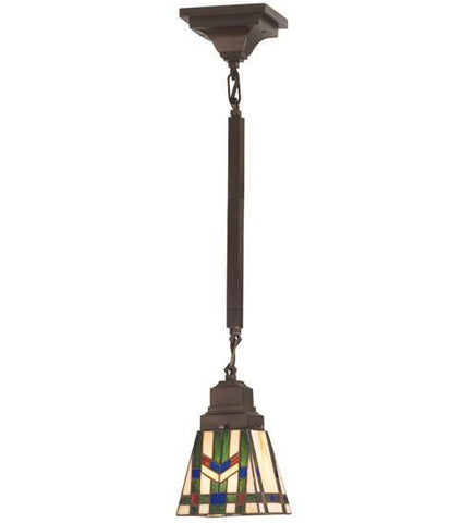 "Meyda Tiffany 20069 5""Sq Prairie Wheat Mini Pendant - PeazzLighting"