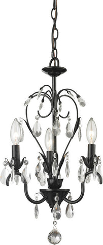 Z-Lite 418BK 3 Light Mini Chandelier - ZLiteStore