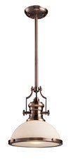 Landmark 66143-1 Chadwick One Light Pendant in Antique Copper - PeazzLighting