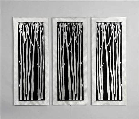Nova Lighting WG40502 Silver Birch Wall Graphic 3Pc - PeazzLighting